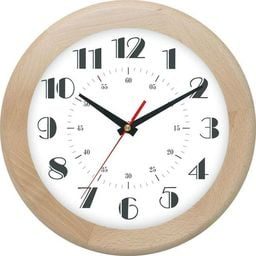 Atrix drewniany zegar ścienny ATW301E Jesion 30 cm uniwersalny
