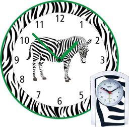 Atrix Dziecięcy zegar ścienny i budzik z motywem zebry KOMPL-Z2 uniwersalny