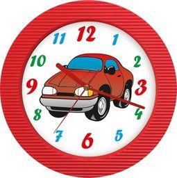 Atrix Dziecięcy zegar ścienny samochodzik ATE98105T RED uniwersalny