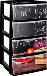 Regał NA ZABAWKI  4 szuflady Nadruk Nauka H: 75 cm uniwersalny