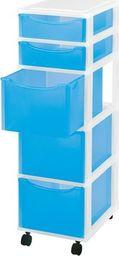 Regał ORGANIZER 5 szuflad Multi BLUE H: 81 cm uniwersalny