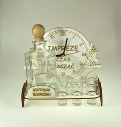 Karafka Zegar na alkohol 0,5 l z kieliszkami uniwersalny