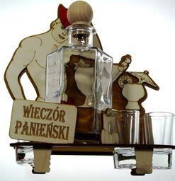 Karafka Wieczór Panieński na alkohol 0,5 l z kieliszkami uniwersalny