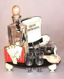 Karafka Zestaw na alkohol 0,5 z kieliszkami uniwersalny