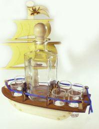 Karafka Masztowiec na alkohol 0,5 l z kieliszkami uniwersalny