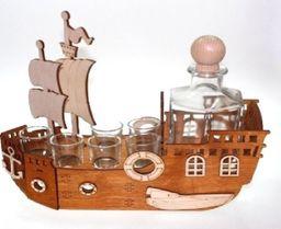 Karafka Statek na alkohol, 0,5 l z 6 kieliszkami uniwersalny