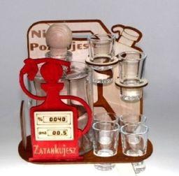 Karafka Kanister na alkohol, 0,5 l z kieliszkami uniwersalny