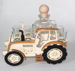 Karafka Traktor na alkohol 0,5 l z kieliszkami uniwersalny