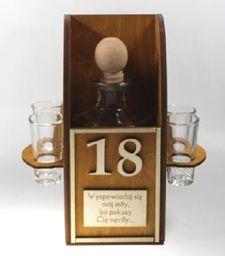 Karafka Konfesjonał na alkohol 0,5 l z kieliszkami uniwersalny