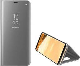 Etui Clear View Samsung A750 A7 2018 srebrne