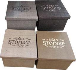 Pudełko organizer brązowy 22 x 22 x 17 uniwersalny