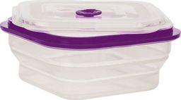 SILIKONOWY SKŁADANY LUNCH BOX  1000 ml /fioletowy uniwersalny