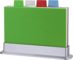 Deska do krojenia plastikowa 30x20cm 4szt. ze stojakiem