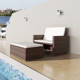 VidaXL sofa ogrodowa, rattan PE, brązowa (43070)