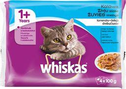 Whiskas Karma mokra dla kotów - zestaw rybny 4x100g