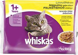 Whiskas Karma mokra dla kotów z drobiem 4x100g