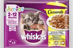 Whiskas Karma mokra dla kociąt z drobiem, saszetki 4x85g