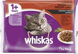 Whiskas Karma mokra dla kotów z wołowiną, kurczakiem, indykiem i jagnięciną 4x100g