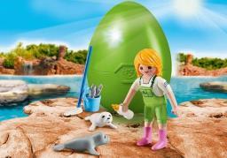 Playmobil Easter Egg Opiekunka zwierząt z fokami (9418)