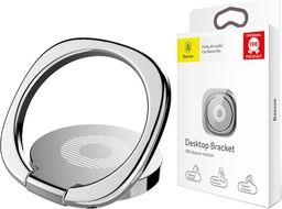Uchwyt Baseus Uchwyt na telefon metalowy Desktop Bracket srebrny
