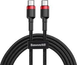 Kabel USB Baseus Kabel Cafule 2x USB-C QC 3A 1m PD red black uniwersalny