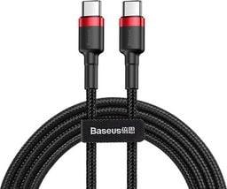 Kabel USB Baseus Kabel Cafule 2x USB-C QC 3A 2m PD red black uniwersalny