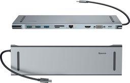 Stacja/replikator Baseus Baseus Enjoyment HUB adapter USB-C replikator HDMI RJ45 SD MacBook uniwersalny