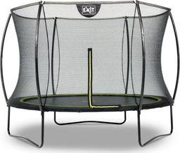 EXIT Trampolina ogrodowa Silhouette z siatką zewnętrzną 244 cm czarna