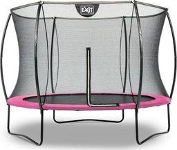 EXIT Trampolina ogrodowa  Silhouettez siatką zewnętrzną 244 cm czarno-różowa