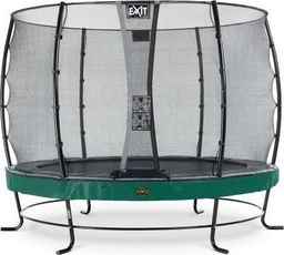 EXIT Trampolina ogrodowa Elegant Premium z siatką zewnętrzną 305 cm zielona