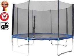 LEX Trampolina ogrodowa z siatką zewnętrzną 366 cm czarna