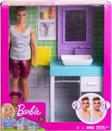 Barbie  Barbie. Lalka Ken domowe zajęcia (FYK53)
