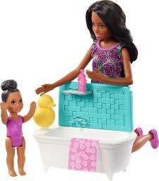 Barbie Barbie. Skipper® Babysitters opiekunka dziecięca lalka + dziecko + akcesoria INC D (FXH06)