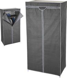 Szafa materiałowa na ubrania szara 75x45x160cm