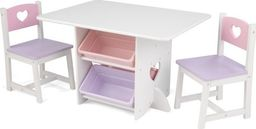 Kidkraft Vaikiškas staliukas su kėdutėmis Kidkraft, baltas