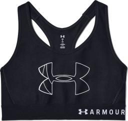 Under Armour Biustonosz Mid Big Logo czarny r. S (1342630-001)