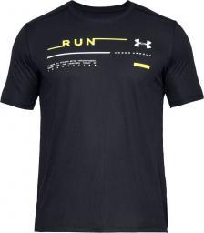Under Armour Koszulka męska Run Graphic Tee czarna r. L (1342686-001)