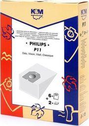 Worek do odkurzacza K&M &M KM-P11 (4szt.) + Mikrofiltr do Philips Oslo