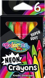 Colorino Vaškinės trikampės kreidelės Colorino Kids, 6 neoninių spalvų
