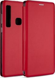 Etui Book Magnetic Samsung A750 A7 2018 czerwony/red
