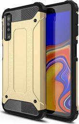 Hurtel Hybrid Armor pancerne hybrydowe etui pokrowiec Samsung Galaxy A7 2018 A750 złoty uniwersalny