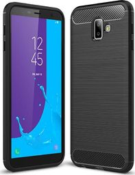 Hurtel Carbon Case elastyczne etui pokrowiec Samsung Galaxy J6 Plus 2018 J610 czarny uniwersalny