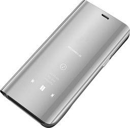 Hurtel Clear View Case futerał etui z klapką Samsung Galaxy A7 2018 A750 srebrny uniwersalny