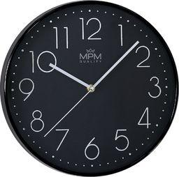 MPM Czarny zegar ścienny MPM E01.3899.9090 30,5 cm uniwersalny