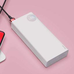 Powerbank Baseus Baseus Mulight power bank 20000 mAh z wyświetlaczem napięcia ładowania PD3.0 QC3.0 biały (PPALL-MY02) uniwersalny