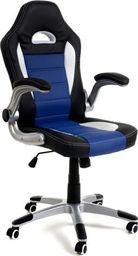 IMAGGIO Fotel biurowy RACER SPORT czarno - niebieski + gratis ! universal