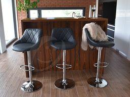 IMAGGIO Hoker do Pubu BETINA, Krzesło barowe w kolorze czarnym universal