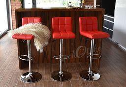 IMAGGIO Hoker do kuchni ROYAL, Krzesło barowe  w kolorze czerwonym universal