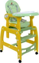 FUN BABY Krzesełko do karmienia dzieci 5 w 1 stolik, krzesełko, bujak + kółka - żółte universal