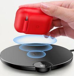 Baseus Baseus AirPods Wireless Charger Case silikonowe etui pudełeczko na słuchawki Apple AirPods z funkcją bezprzewodowego ładowania (WIAPPOD-09) czerwony uniwersalny